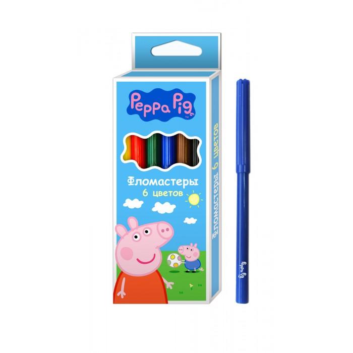 Фломастеры Свинка Пеппа (Peppa Pig) 6 шт. сумки для детей свинка пеппа peppa pig рюкзачок малый superstar