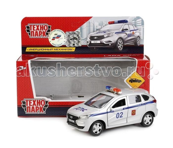 Машины Технопарк Машина инерционная Lada Xray Police 12 см машина технопарк полиция outlander police