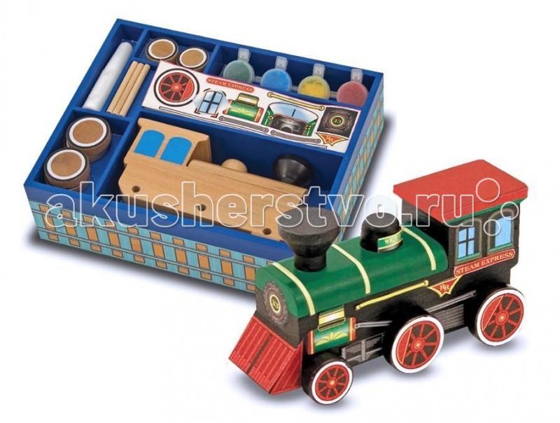 Наборы для творчества Melissa & Doug Набор Создай свой собственный поезд 12381