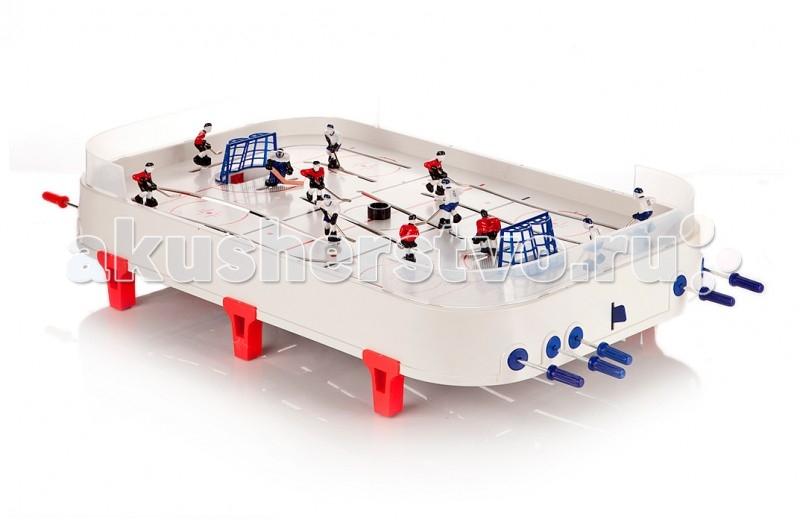 Играем вместе Настольна игра Хоккей A553-H30012-RНастольна игра Хоккей A553-H30012-RИграем вместе Настольна игра Хоккей предназначена дл двух участников.  Особенности: Эта игра надолго увлечет как детей, так и их родителей. Хоккейный набор прослужит вам долго, ведь набор произведен с соблдением высочайших стандартов качества.  Игрушка снабжена надежными ножками, которые устойчиво держат игровое поле даже во врем самой интенсивной игры.  Все комплектущие собиратс легко и быстро, что позволит незамедлительно приступить к игре сразу же после открыти коробки.  Каждый игрок на поле имеет свой номер. Есть возможность осуществлть игру как коньками, так и клшкой.  Игроки противоборствущих команд могут заезжаь на поле противника, что позволет провеcти больше маневров в процессе атаки.  Игра развивает ловкость, быстроту реакции, стремление к победе и соревновательные навыки.  В комплекте: 2 прозрачных бортика из пластика две хоккейные команды пара ворот с сеткой шесть ножек дл креплени на столе подробна инструкци<br>