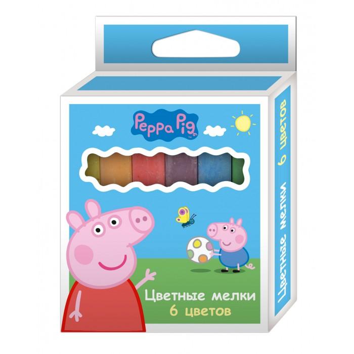Мелки Свинка Пеппа (Peppa Pig) 6 цветов цветные карандаши толстые свинка пеппа 6 цветов peppa pig