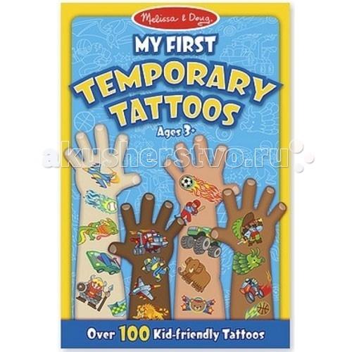 Аксессуары Melissa & Doug Набор временных тату Голубой временные татуировки мнетату временное тату флеш рояль