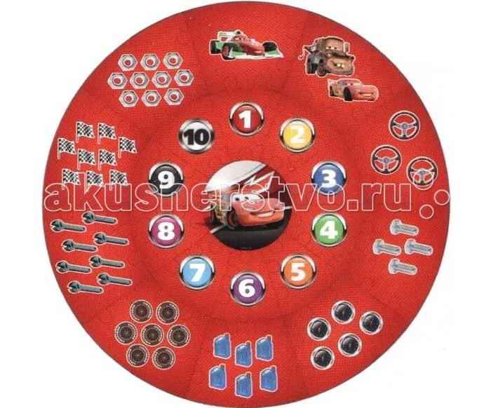 Игровые коврики Играем вместе Пазл Тачки играем вместе пластилин в ведре тачки 7 цветов