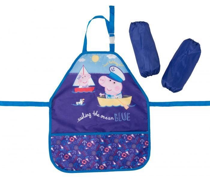 Детские фартуки Свинка Пеппа (Peppa Pig) Фартук с нарукавниками Море сумки для детей свинка пеппа peppa pig рюкзачок малый superstar