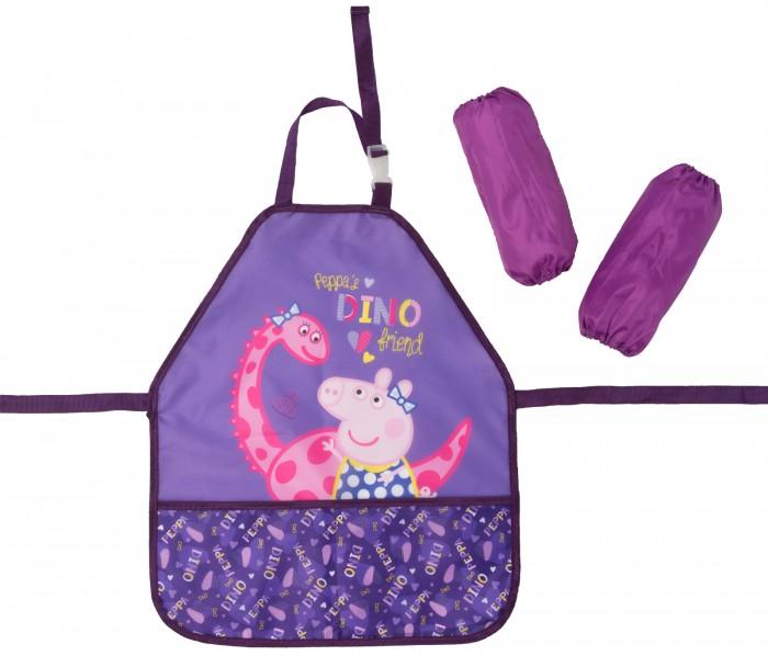 Детские фартуки Свинка Пеппа (Peppa Pig) Фартук с нарукавниками Дино сумки для детей свинка пеппа peppa pig рюкзачок малый superstar