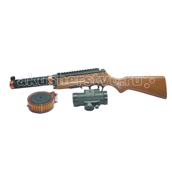 Игрушечное оружие Играем вместе Игрушечный Автомат с оптическим и лазерным прицелом радиоуправляемый робот паук keye toys space warrior с дисками и лазерным прицелом 2 4g