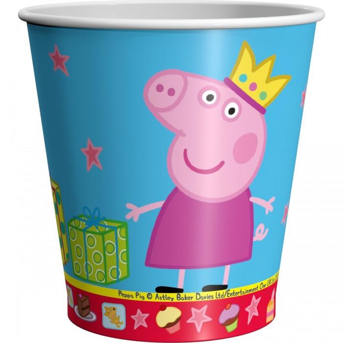 Товары для праздника Свинка Пеппа (Peppa Pig) Стаканы Пеппа-принцесса 220 мл 6 шт. цветные карандаши толстые свинка пеппа 6 цветов peppa pig
