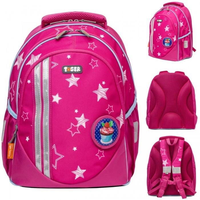 Купить Школьные рюкзаки, Tiger Enterprise Рюкзак школьный для девочки Champ series collection 2 съемные аппликации 38х22х22 см
