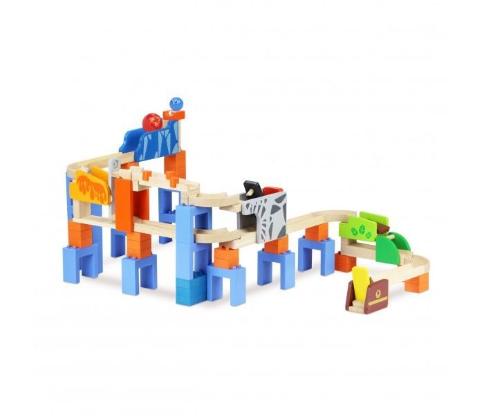 Деревянные игрушки Wonderworld Trix-Track Двухуровневый трек конструктор wonderworld trix track катимся катимся ww 7003