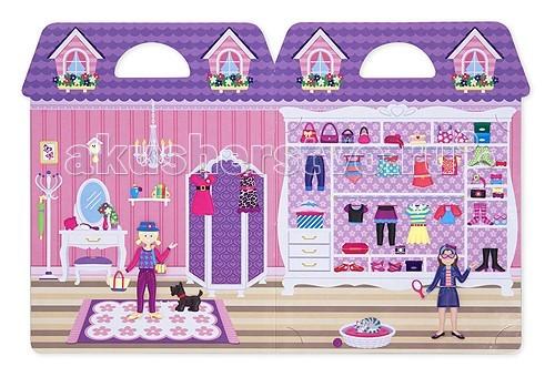 Детские наклейки Melissa & Doug Набор со стикерами и фоном Магазин одежды магазин женской одежды бренды