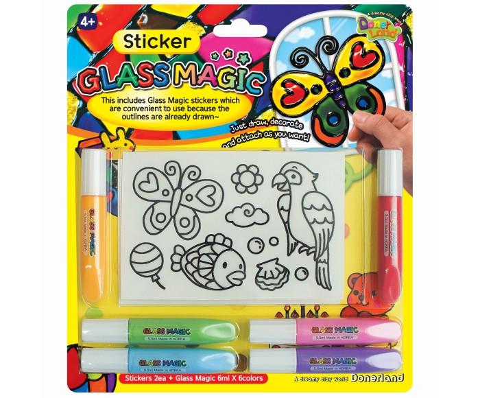 Наборы для творчества Glass Magic Набор для рисования витражей Наклейки наборы для рисования daisy design набор для рисования