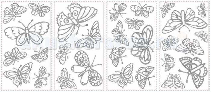 Декорирование RoomMates Наклейки для декора Мерцающие бабочки, Декорирование - артикул:501546
