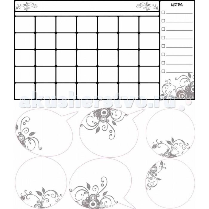 Декорирование RoomMates Наклейки для декора Календарь для заметок