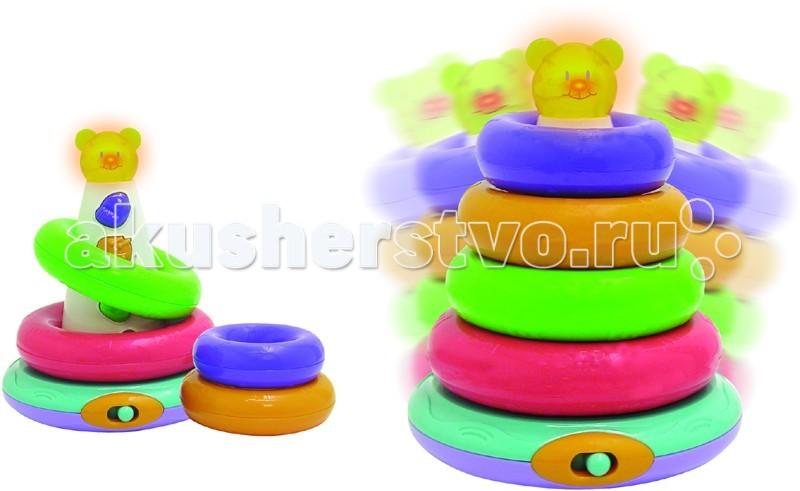 Развивающая игрушка Unimax Волшебная развивающая пирамидаВолшебная развивающая пирамидаРазвивающая игрушка Unimax Волшебная развивающая пирамида - состоит из стержня и 5 колец различного диаметра и цветов. Игрушка познакомит Вашего малыша с основными цветами, счетом от 1 до 5, помогает в развитии мелкой моторики и зрительного восприятия. Включает 2 игровых режима. Можно слушать мелодии, а можно придумать самому.  Стоит качнуть пирамидку и зазвучат веселые мелодии, которые развеселят Вашего малыша и обеспечат ему отличное настроение.   Для питания игрушки необходимо 2 батарейки типа АА. В комплект не входят.<br>