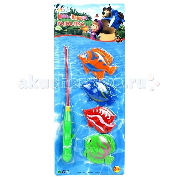 Игрушки для ванны Играем вместе Игра Рыбалка Маша и Медведь B526466-R2 игрушки для ванной играем вместе набор для купания маша и медведь
