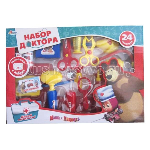 Купить Ролевые игры, Играем вместе Набор доктора Маша и медведь A373-H34024-R