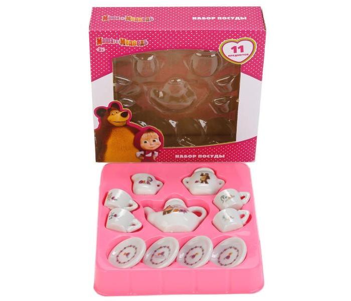 Ролевые игры Играем вместе Набор посуды Маша и Медведь керамика (11 предметов) игрушечная посуда играем вместе набор посуды принцессы