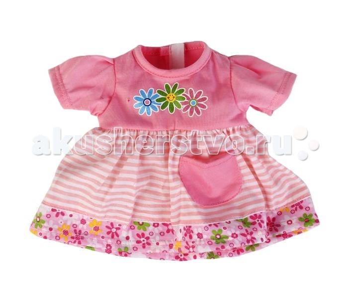 Куклы и одежда для кукол Карапуз Одежда для кукол Платье в полоску