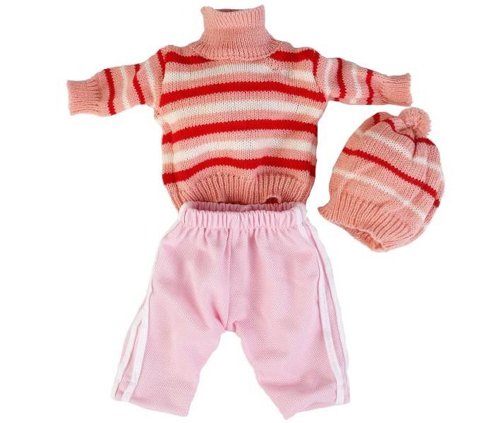 Куклы и одежда для кукол Карапуз Тёплый комплект одежды для куклы Кофта и шапочка куклы и одежда для кукол карапуз принцесса рапунцель 25 см