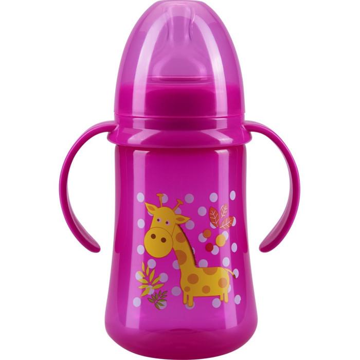 Бутылочки Курносики с ручками полипропилен силиконовая соска 125 мл бутылочка aura солнце и луна полипропилен 125 мл прозрачный