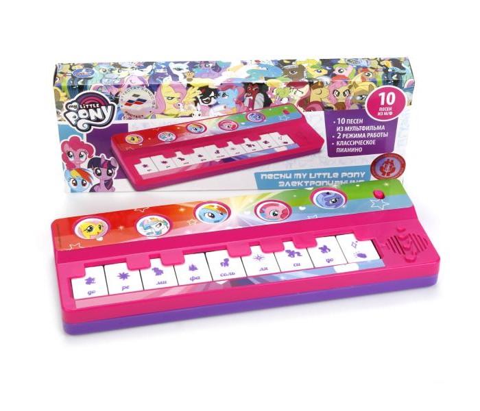 Музыкальные игрушки Умка Электропианино My Little Pony 10 песен умка книги по мультфильмам my little pony книга пианино с 8 клавишами и песенками
