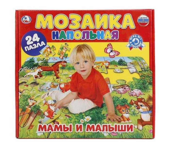 Картинка для Пазлы Умка Напольная мозаика Мамы и малыши