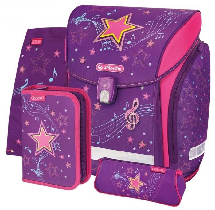 Купить Школьные рюкзаки, Herlitz Ранец Midi Plus Melody Star с наполнением