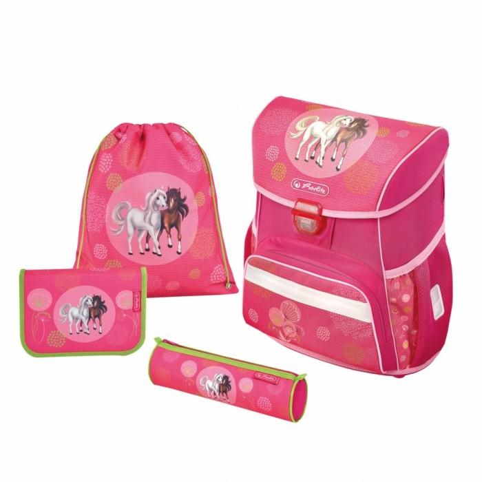 Купить Школьные рюкзаки, Herlitz Ранец Loop Plus Spring Horses с наполнением
