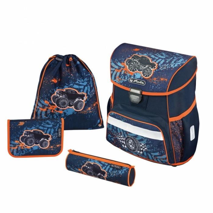 Купить Школьные рюкзаки, Herlitz Ранец Loop Plus Monster Truck с наполнением