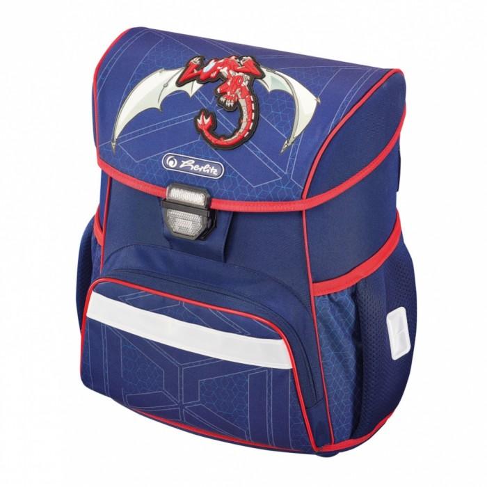 Школьные рюкзаки Herlitz Ранец Loop Red Robo Dragon