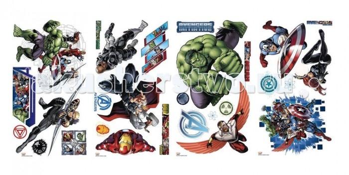 Декорирование RoomMates Наклейки для декора Мстители: персонажи roommates наклейки для декора приключения в джунглях