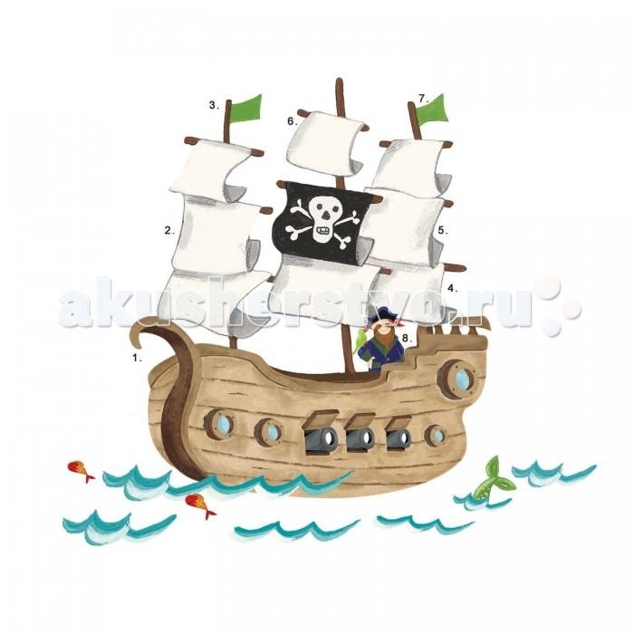Декорирование RoomMates Наклейки для декора Пиратский корабль roommates наклейки для декора пиратский корабль