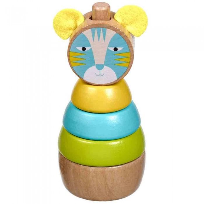 Деревянные игрушки Lucy Leo Пирамидка Кот деревянные игрушки lucy leo магический треугольник