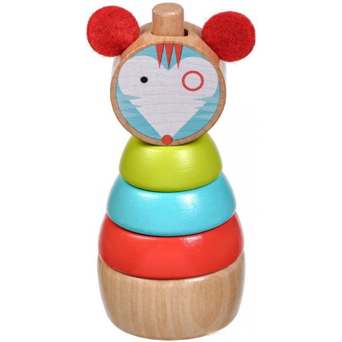 Деревянные игрушки Lucy Leo Пирамидка Мышка деревянные игрушки lucy leo магический треугольник