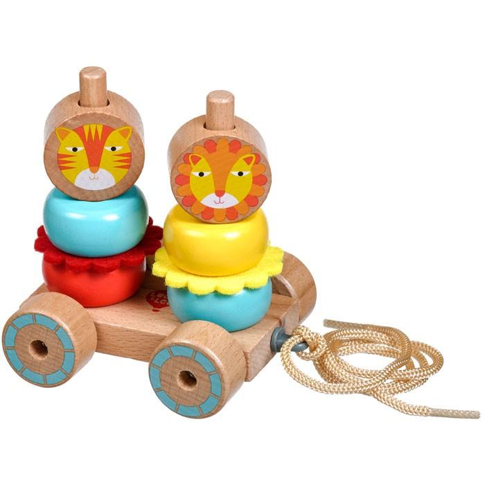 Фото - Каталки-игрушки Lucy Leo Каталка-пирамидка Лев и Львица лев и львица
