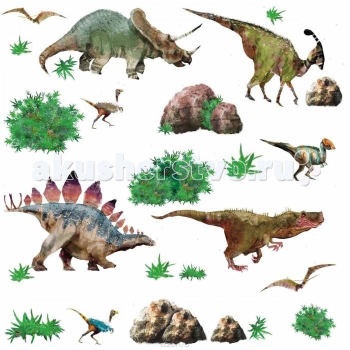 Декорирование RoomMates Наклейки для декора Динозавры roommates наклейки для декора приключения в джунглях