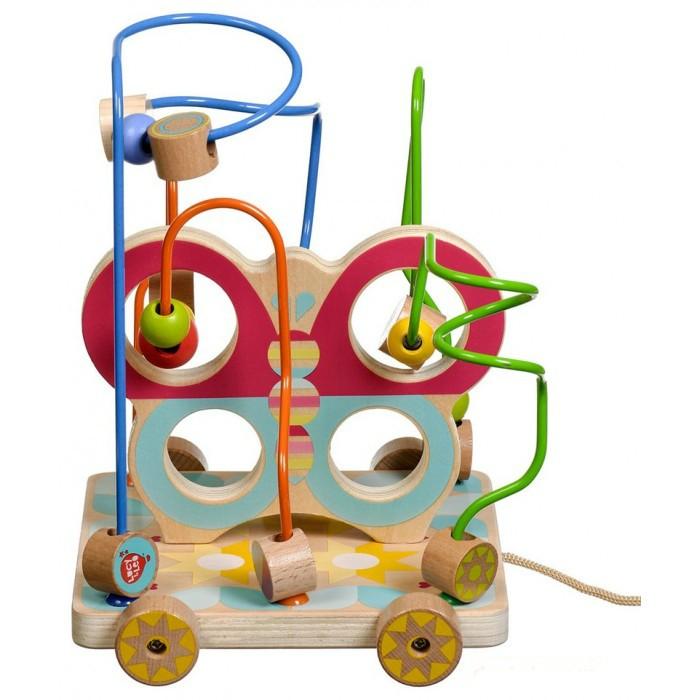 Купить Деревянные игрушки, Деревянная игрушка Lucy & Leo Лабиринт-каталка Бабочка