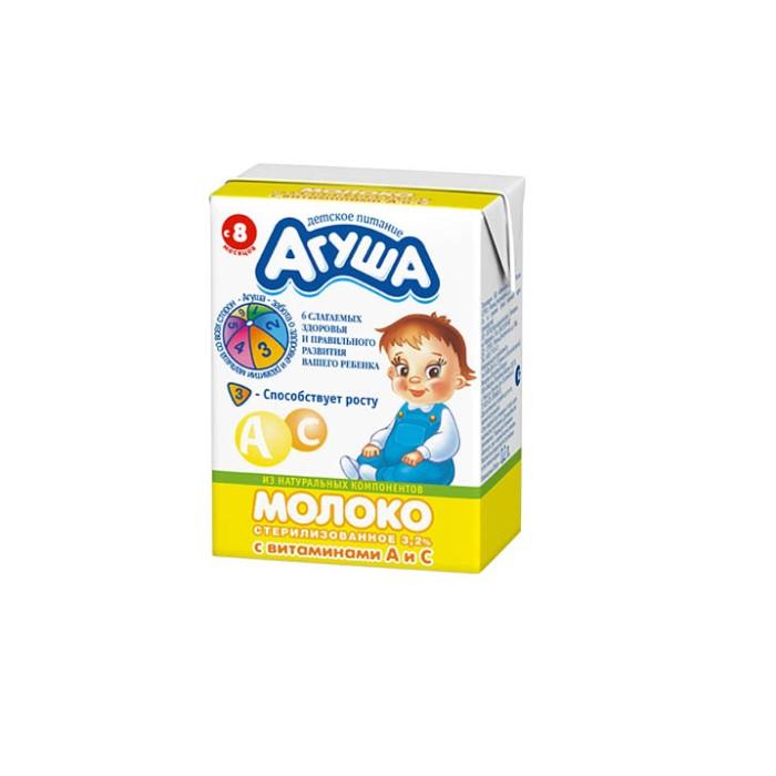 цена на Молочная продукция Агуша Молоко стерилизованное витаминизированное 2.5% 200 мл