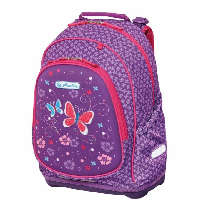 Фото Школьные рюкзаки Herlitz Рюкзак школьный Bliss Purple Butterfly