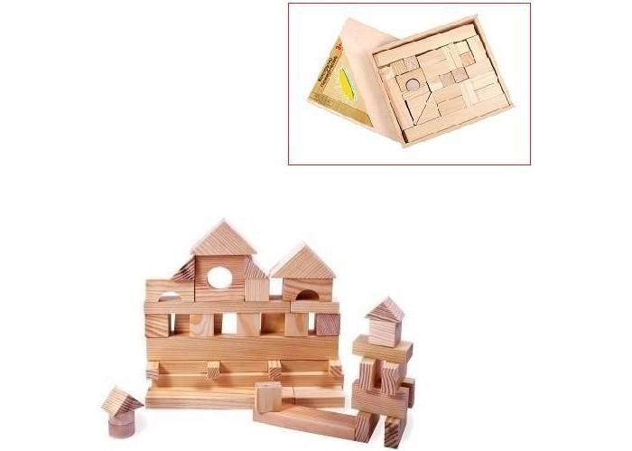 Деревянные игрушки Paremo конструктор 35 деталей неокрашенный в деревянном ящике