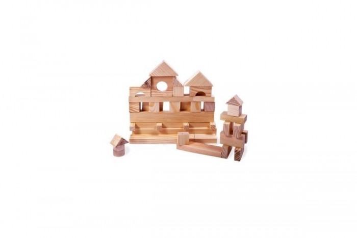 Деревянные игрушки Paremo конструктор 35 деталей неокрашенный в пакете