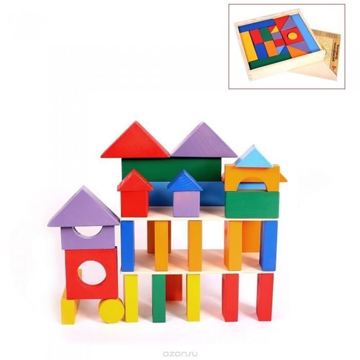 Деревянная игрушка Paremo конструктор 35 деталей окрашенный в деревянном ящике фото
