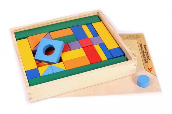 Купить Деревянные игрушки, Деревянная игрушка Paremo конструктор 51 деталь окрашенный в деревянном ящике