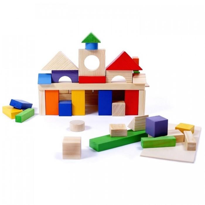 Купить Деревянные игрушки, Деревянная игрушка Paremo конструктор 51 деталь окрашенный в пакете