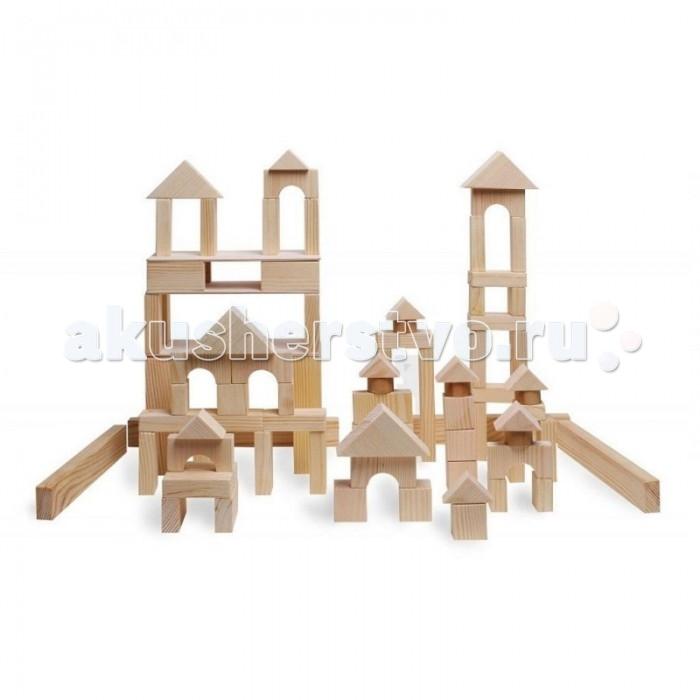Деревянная игрушка Paremo конструктор 85 деталей неокрашенный в деревянном ящике