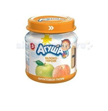Пюре Агуша Фруктовое пюре Яблоко-персик 115 г добрый сок яблоко персик 0 2 л