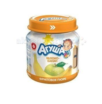 Пюре Агуша Фруктовое пюре Яблоко-банан 115 г агуша фруктовое пюре я сам яблоко персик 90 г