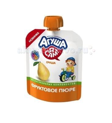 Пюре Агуша Фруктовое пюре Я Сам! Груша Doy-pack 90 г йогурт питьевой агуша я сам малина 2 7% с 8 мес 200 мл