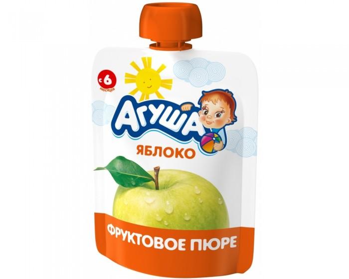 Пюре Агуша Пюре Я САМ! Яблоко Doy-pack 90 г агуша фруктовое пюре я сам яблоко персик 90 г