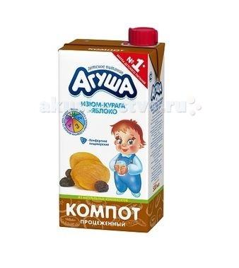 Соки и напитки Агуша Компот Курага-изюм-яблоко 500 мл соки и напитки агуша компот курага изюм яблоко 200 мл
